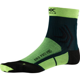 X-Socks Bike Pro Keskipitkät Sukat, phyton yellow/pine green